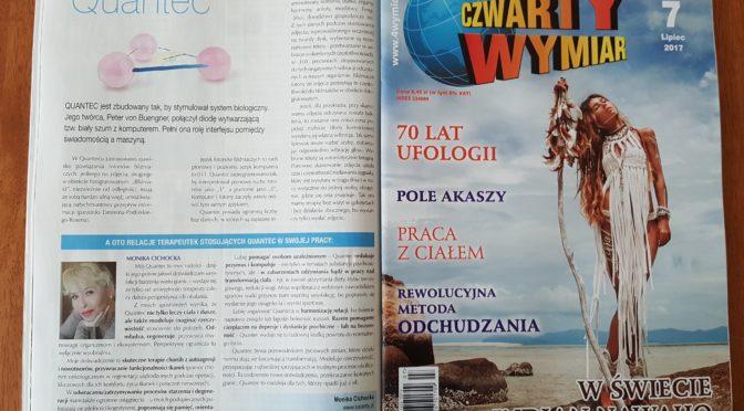 """Artykuł informacyjny w lipcowym """"CZWARTYM WYMIARZE"""""""